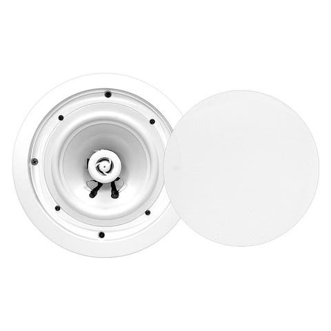 Pyle PWRC81 8 Ceiling Wall Mount Speakers 2-Way Weatherproof Full Range Woofer Speaker System (Pair) 55Hz-22kHz 400 Watts