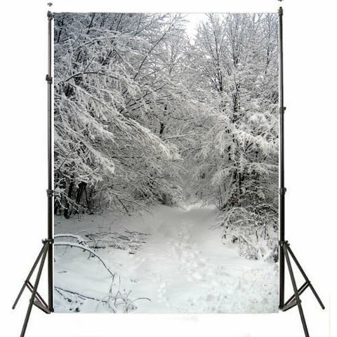 Photography Backdrop Studio Photo Prop 5' x 7' Christmas Snow 1
