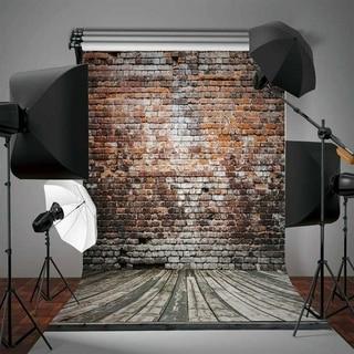 Photography Backdrop Studio Photo Prop 5' x 7' Vintage Brick Wall