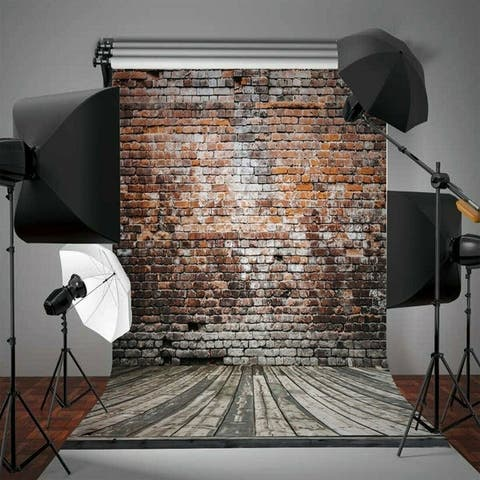 Photography Backdrop Studio Photo Prop 5' x 7' Vintage Brick Wall