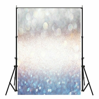 Photography Backdrop Studio Photo Prop 5' x 7' Silver and Blue Halo 28