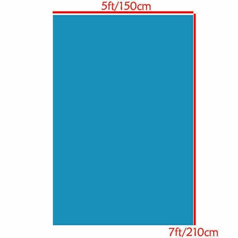 Photography Backdrop Studio Photo Prop 5' x 7' Solid Blue