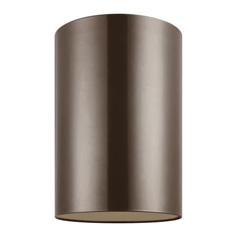 Sea Gull Outdoor Cylinders 1-light Large LED Ceiling Flush Mount