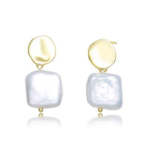 Collette Z Sterling Silver Freshwater Pearl Dangling Earrings