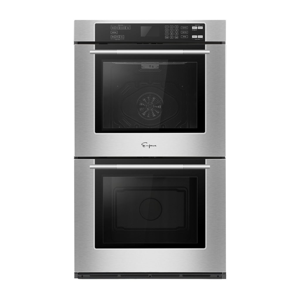 Empava  30 in Stainless Steel Double Electric Wall Oven Convection Fan
