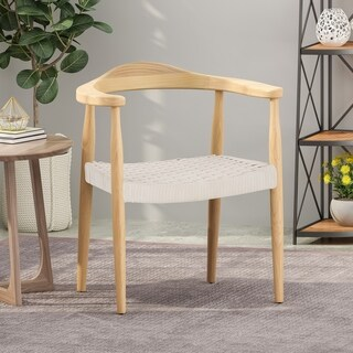 Link to Palmyra Mid-Century Modern Ash Wood Accent Chair with Olefin Rope Seat by Christopher Knight Home Similar Items in Living Room Chairs