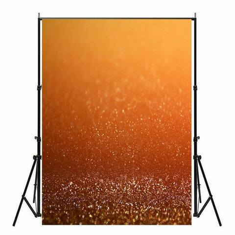 Photography Backdrop Studio Photo Prop 5' x 7' Misty Orange Glitter 26