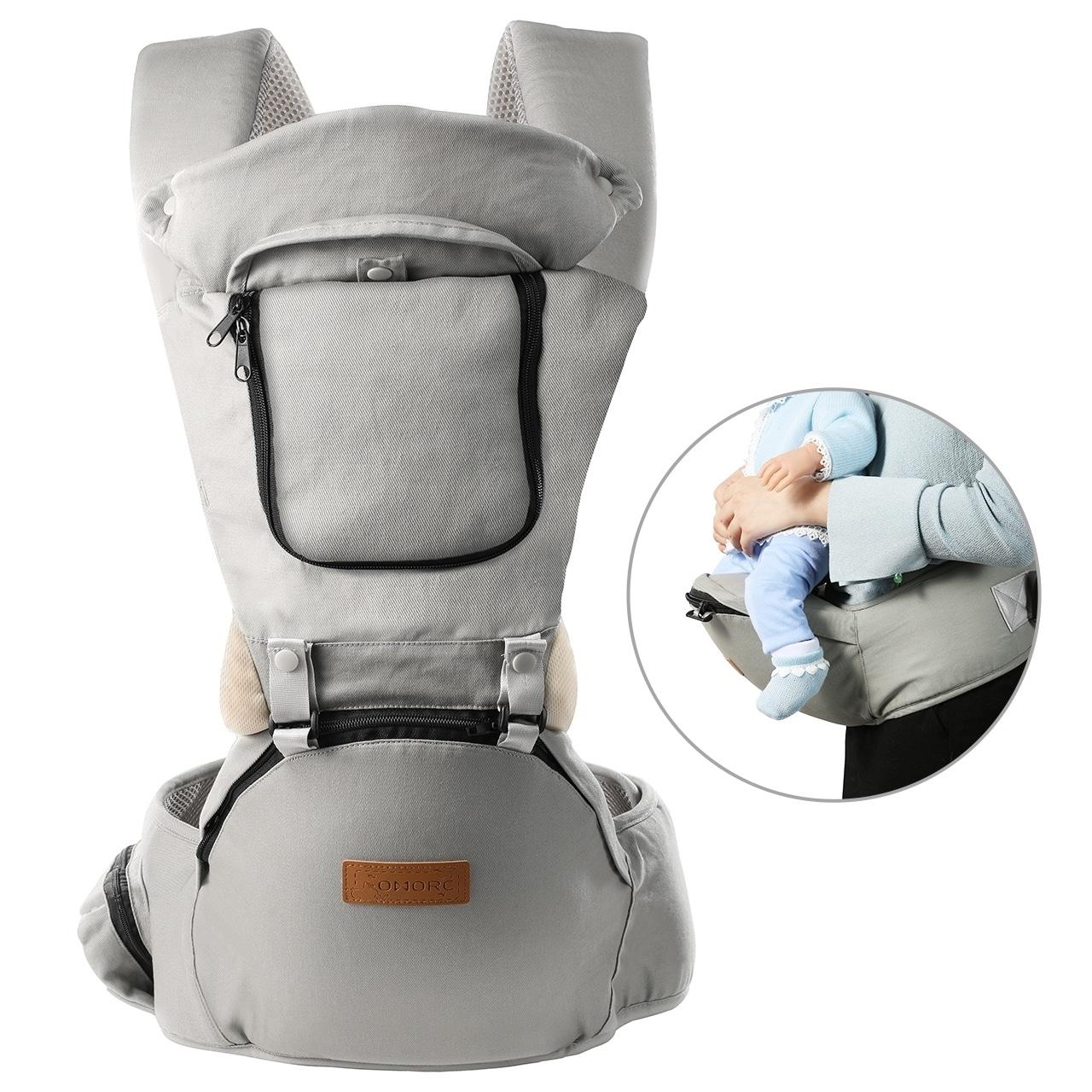 Shop OMORC Infant Soft Carrier Breathable Soft Carrier Baby Hip Seat  Carrier Breathable Mesh Front Back Child Carrier - On Sale - Overstock -  29958517