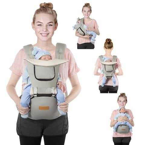 OMORC Infant Soft Carrier Breathable Soft Carrier Baby Hip Seat Carrier Breathable Mesh Front Back Child Carrier