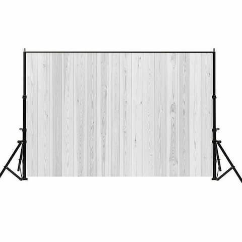 Photography Backdrop Studio Photo Prop 5' x 7' Grey White Wood Grain