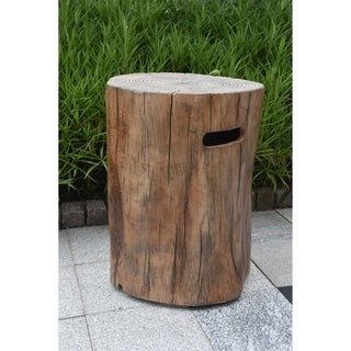 Elementi Manchester Driftwood Fire Table matched Concrete Tank Cover