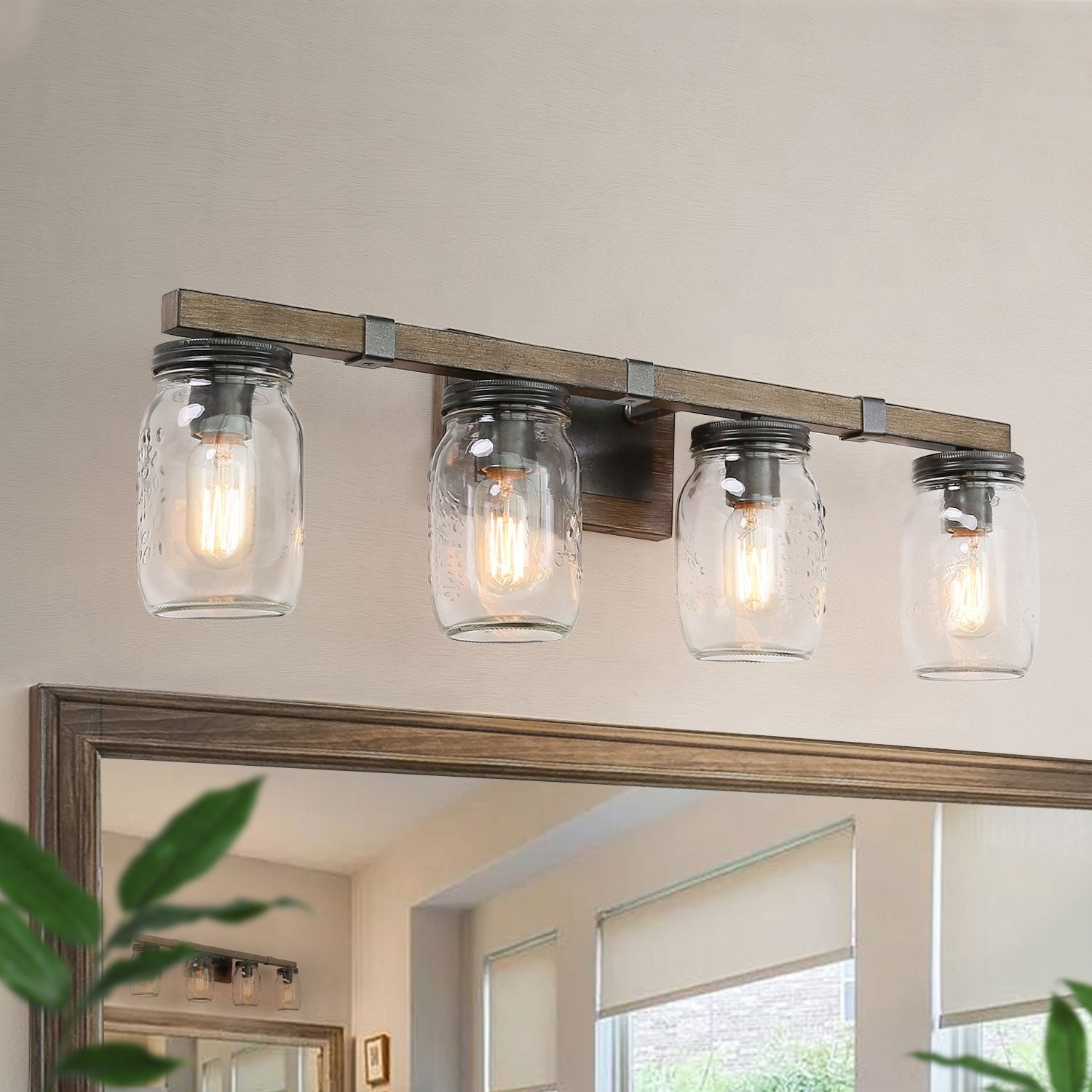 Farmhouse 4 Lights Bathroom Vanity Lighting Wall Sconce W29 Xh9 Xe6 Overstock 29959673