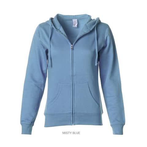 Independent Trading Juniors' Fleece Full-Zip Hooded Sweatshirt