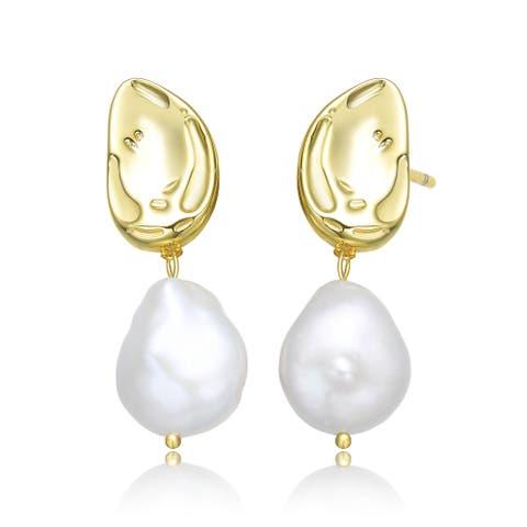Collette Z Sterling Silver wFreshwater Pearl Dangling Earrings