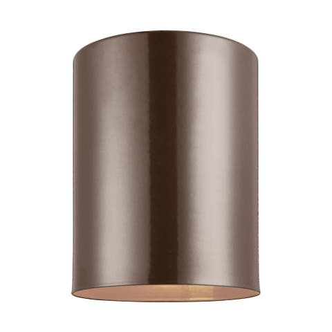 Sea Gull Outdoor Cylinders 1-light Ceiling Flush Mount