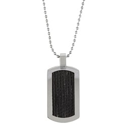 Stainless Steel Braided Cable Dog Tag Necklace