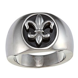 Men's Titanium Fleur de Lis Ring (6.1 mm)