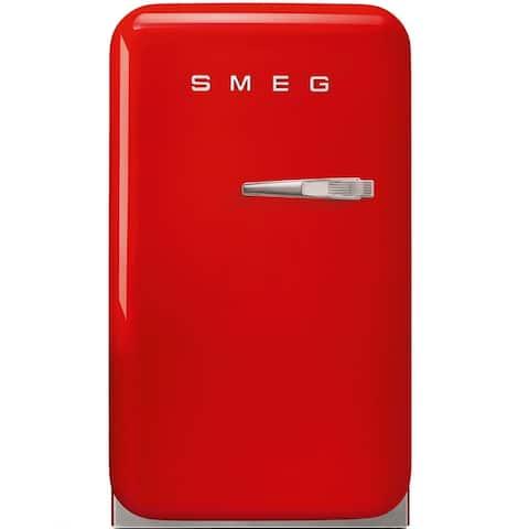 Smeg 50s Retro Style Mini Refrigerator Red Left Hinge