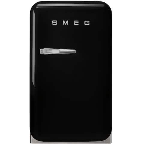 Smeg 50s Retro Style Mini Refrigerator Black Left Hinge