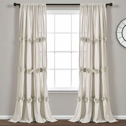 "Lush Decor Darla Window Curtain Single Panel - 84"" x 40"""