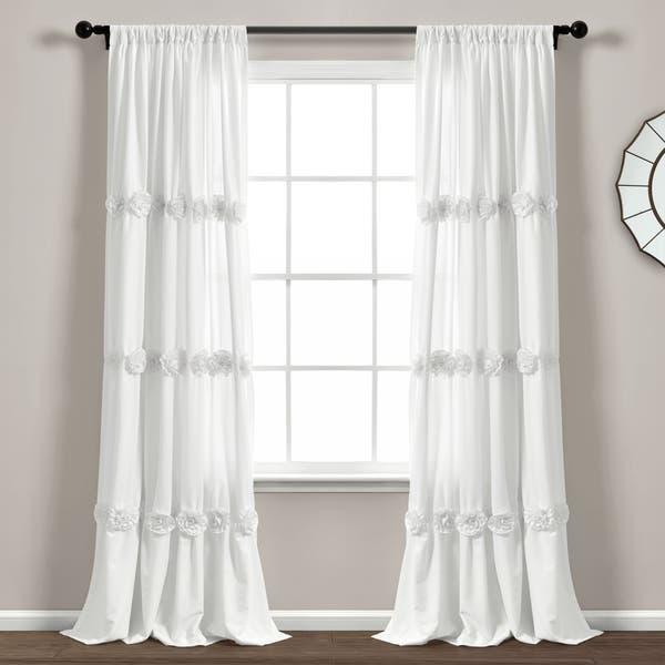 Shop Black Friday Deals On Lush Decor Darla Window Curtain Single Panel 84 X 40 84 X 40 Overstock 29963112