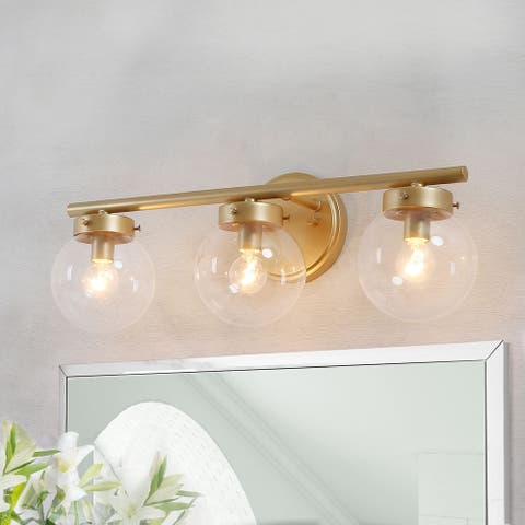 "Modern 3-light Bathroom Vanity Lights Gold Wall Sconce for Powder Room - L19.5""x W6""x H7.5"""