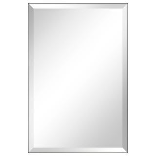 Frameless Beveled Prism Wall Mirror-Square/Rectangluar - Clear