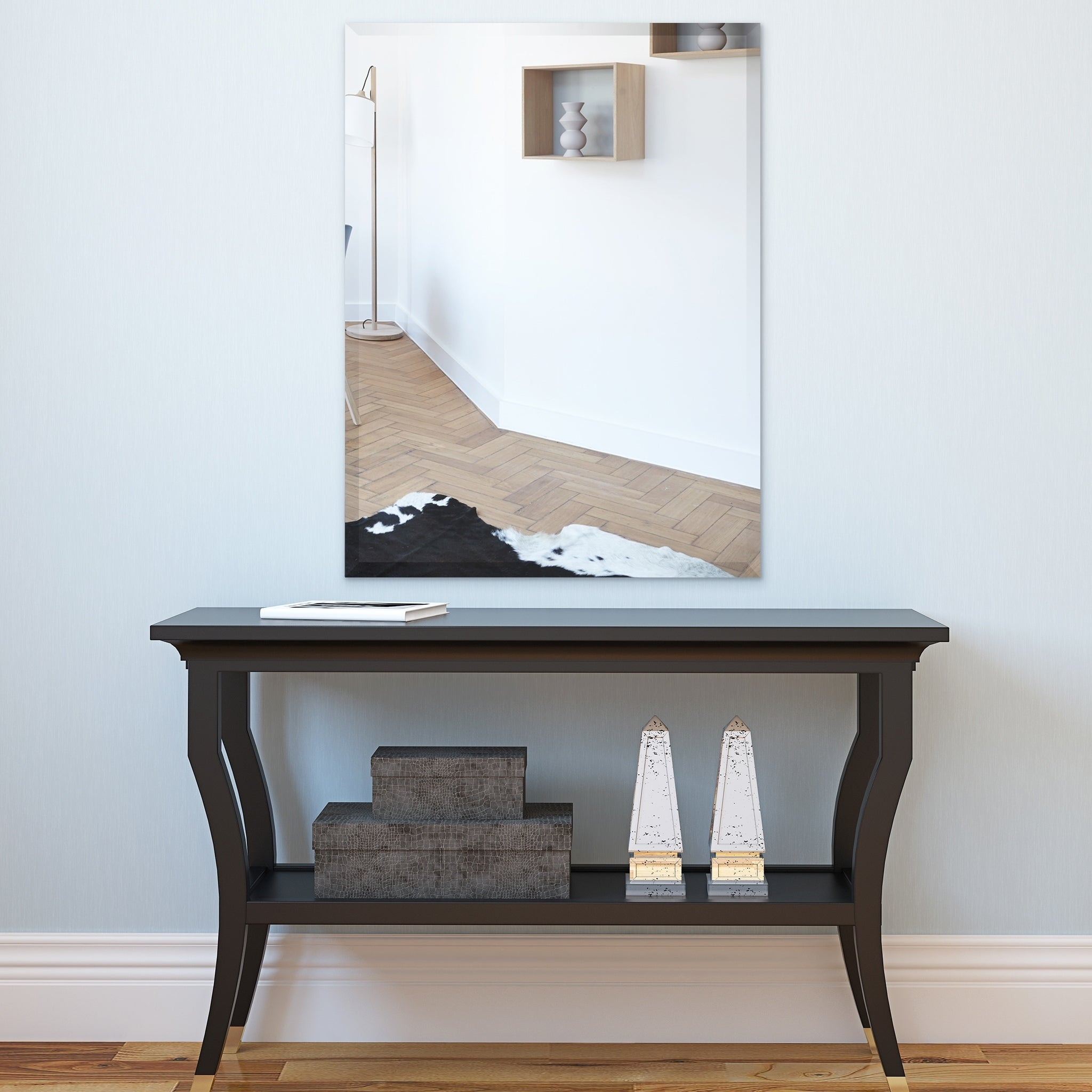 Porch Den Shawmut Frameless Beveled Prism Wall Mirror Overstock 29964416