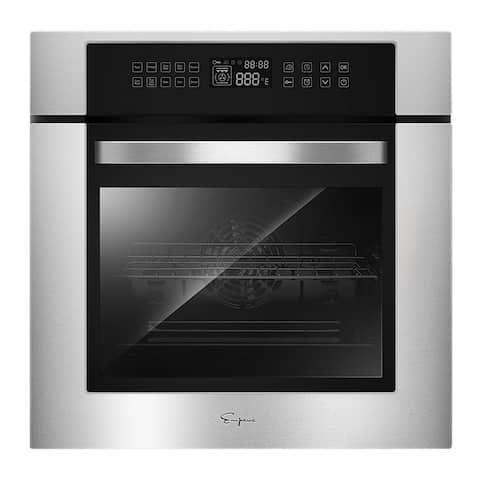 Empava 24 in Electric Convection Single Wall Oven in Stainless Steel