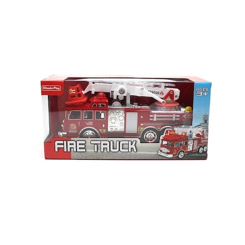 Wonderplay Light & Sound Mickey Activity Fire Engine Kid Toy Car Red