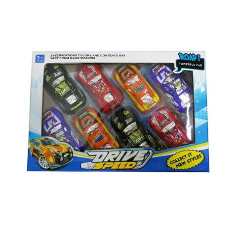 Wonderplay Pull back racing Toys 8pcs pack 1.18×1.97×3.94 IN