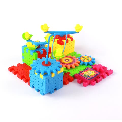 WonderPlay Fun way to Learn! Creative Gadget Gears 81-Piece Building Set