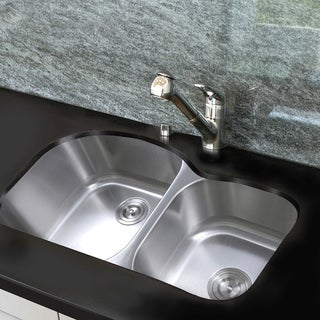 Link to 35 Inch Undermount Stainless Steel Double Bowl Kitchen Sink - 35 x 20 x 10 inches Similar Items in Sinks