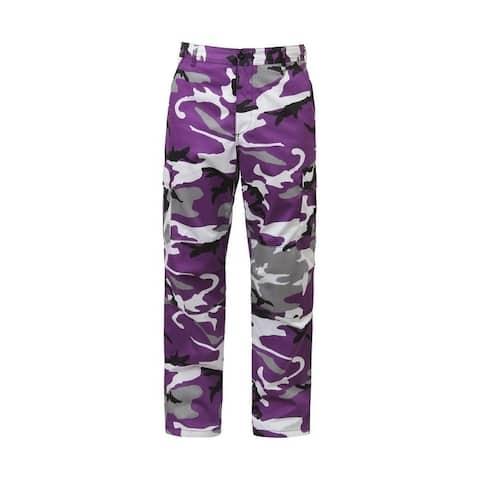 Rothco Camo Tactical BDU Pants - Large - Ultra Violet Camo