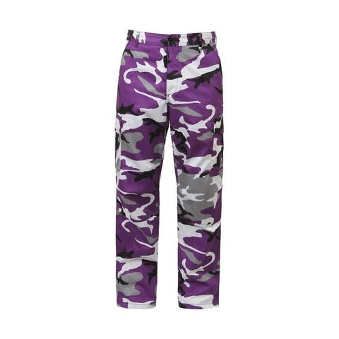 Rothco Camo Tactical BDU Pants - Small - Ultra Violet Camo