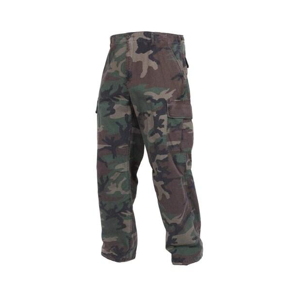 Rothco Vintage R/S Vietnam Fatigue Pants - Woodland Camo - Large - 4487-CAMO-L
