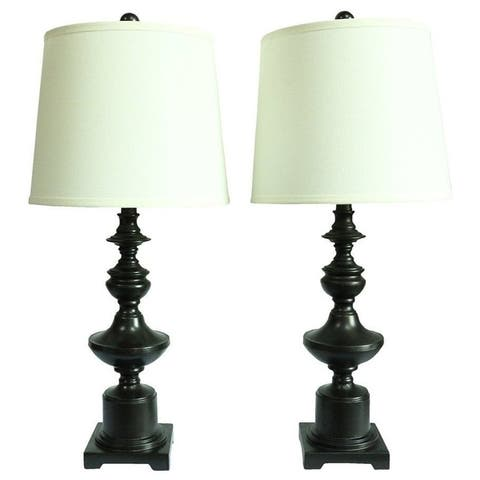 Set of 2 Winston Table Lamps, Oil-Rubbed Bronze, 27.5 inch Tall