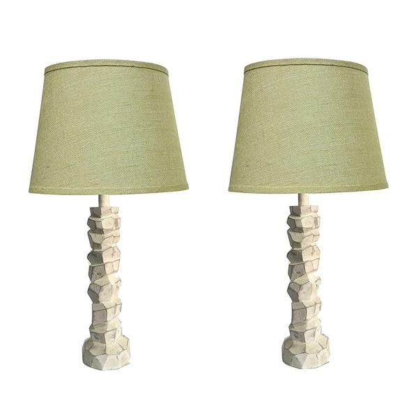"""Set of 2 Woodford Table Lamps, Aged Cream, 24"""" Tall. Opens flyout."""