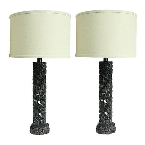 "Set of 2 Duvy Lamps in Paris Bronze, 25.5"" Tall"