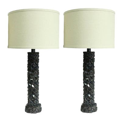 """Set of 2 Duvy Lamps in Paris Bronze, 25.5"""" Tall"""