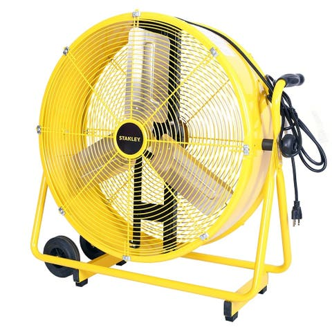 STANLEY 24 in. 2-Speed Adjustable Cradle Drum Fan