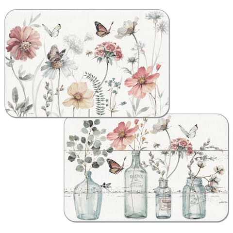 Reversible Wipe-clean Plastic Placemats Set of 4 - A Country Weekend
