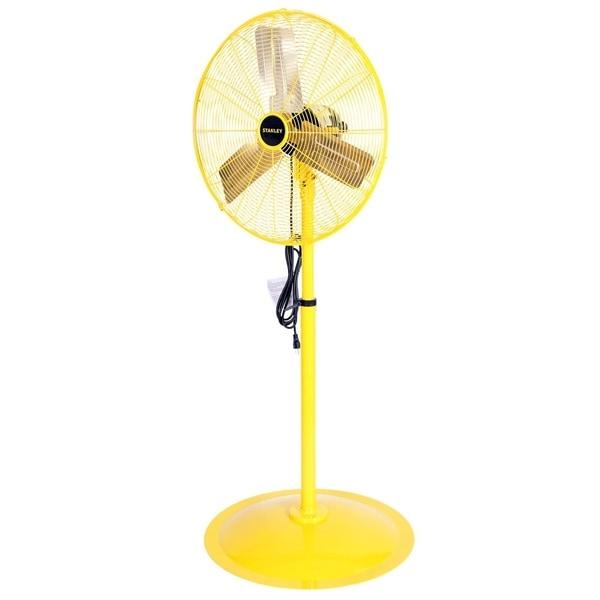 STANLEY 24 in. 3-Speed High Velocity Non-Oscillating Pedestal Fan