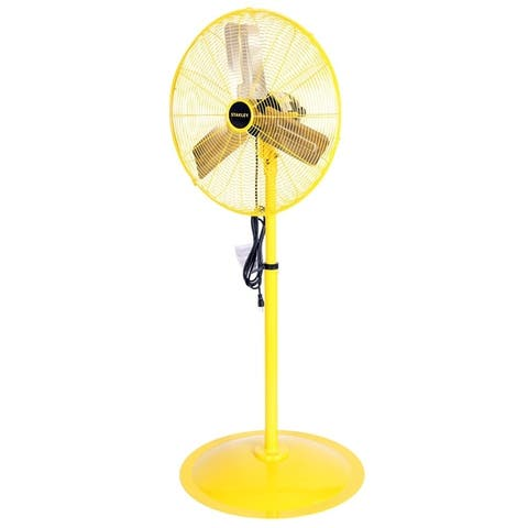 STANLEY 24 in. 3-Speed High Velocity Non-Oscillating Pedestal Fan