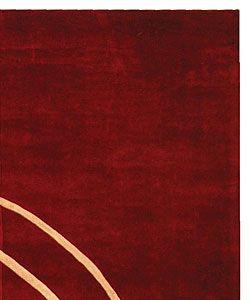 Safavieh Handmade Rodeo Drive Modern Abstract Red/ Ivory Wool Rug (7'6 x 9'6) - Thumbnail 2
