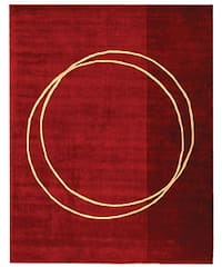 Safavieh Handmade Rodeo Drive Modern Abstract Red/ Ivory Wool Rug (7'6 x 9'6) - 7'6 x 9'6