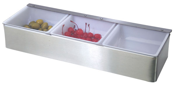 Stainless Steel 3-compartment Condiment Dispenser