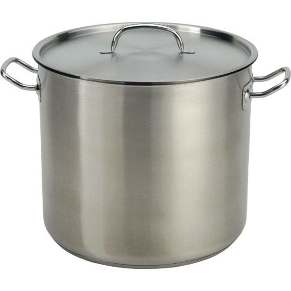 35QT Stainless Steel Heavy Stock Pot with Tri-Ply Base