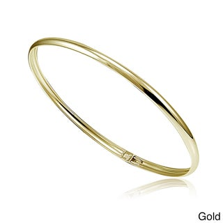 Mondevio Sterling Silver Polished Flex Bangle (2 options available)