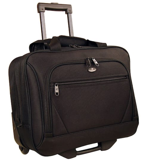 Olympia Deluxe Rolling 14.5-inch Laptop Business Carry On Tote Bag